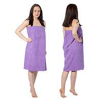Килт(юбка) женский махровый, 80х150+-2, цвет сиреневый