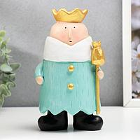 Сувенир полистоун 'Принц со скипетром' 17х10х8,5 см