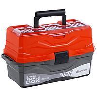 Ящик для снастей Tackle Box NISUS трёхполочный, цвет оранжевый