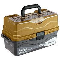 Ящик для снастей Tackle Box NISUS трёхполочный, цвет золотой