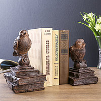 Держатели для книг 'Птички на старых книгах' набор 2 шт 21х15,3х13 см