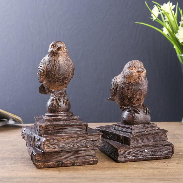 Держатели для книг 'Птички на старых книгах' набор 2 шт 21х15,3х13 см - фото 2