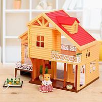 Дом-дача для зверей, с мебелью и аксессуарами