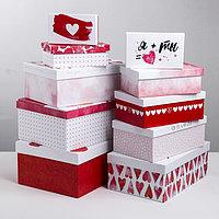 Набор подарочных коробок 10 в 1 'Любовь повсюду', 12 x 7 x 4 - 32.5 x 20 x 12.5 см