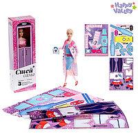 Кукла-модель шарнирная 'Анна' с набором для создания одежды 'Я модельер', МИКС