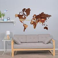 Декор настенный 'Карта мира', 78 х 121 см