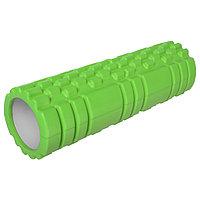 Роллер массажный для йоги, 30 x 10 см, цвет зелёный