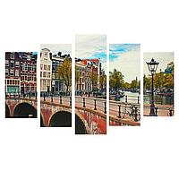Картина модульная на подрамнике 'Улица' 2-25*52 см, 2-25*66,5 см, 1-25*80 см 80*140 см