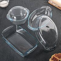 Набор посуды для запекания, 3 предмета кастрюля 1,5 л, утятница 1,7 л, форма 2,5 л