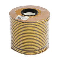 Уплотнитель резиновый TUNDRA krep, профиль D, размер 9х8 мм, коричневый, в катушке 100 м.
