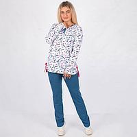 Комплект женский (джемпер, брюки), цвет синий, размер 52