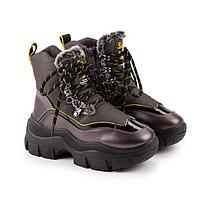 Ботинки, цвет бронзовый, размер 35
