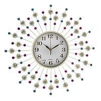 Часы настенные, серия Ажур, 'Стрелы', d60 см микс