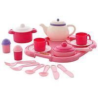 Набор детской посуды 'Настенька', с подносом на 2 персоны, 19 элементов