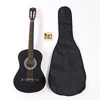 Набор для начинающего гитариста, чёрный классическая гитара, чехол, струны