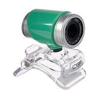 Веб-камера CBR CW 830M Green, 0.3 МП, 640х480, USB 2.0, микрофон, зеленая