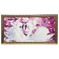 Гобеленовая картина 'Лебеди' 45*83 см рамка микс