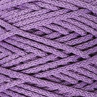 Шнур для вязания с сердечником 100 полиэфир, ширина 5 мм 100м/550гр (92 фиолетовый)