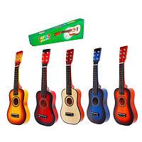 Музыкальная игрушка 'Гитара' 58 см, 6 струн, медиатор, цвета МИКС