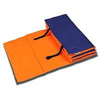 Коврик гимнастический взрослый 180 x 60 см, цвет оранжевый/синий