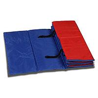 Коврик гимнастический взрослый 180 x 60 см, цвет синий/красный