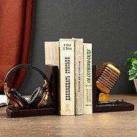 Держатели для книг 'Наушники и микрофон' набор 2 штуки 14,5х28х8 см