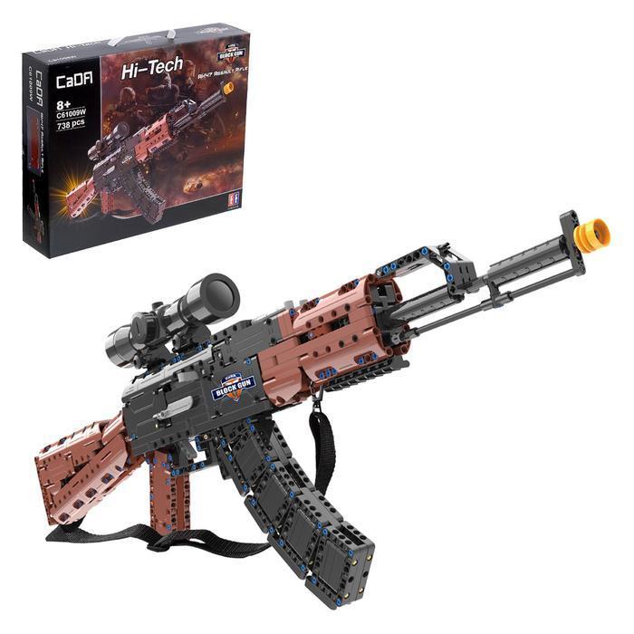 Конструктор модель оружия 'АК-47', 738 деталей - фото 1