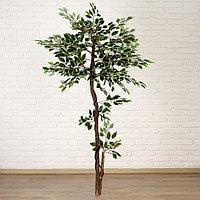 Дерево искусственное лист с белым 160 см