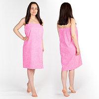 Килт(юбка) женский махровый, 80х150+-2, цвет розовый