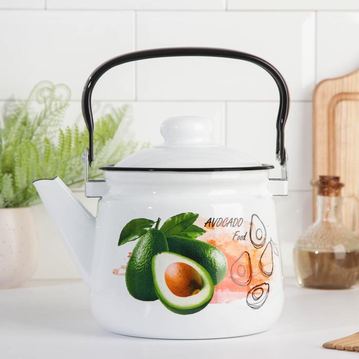 Чайник 'Клубника', 2,5 л, эмалированная крышка, цвет МИКС - фото 1