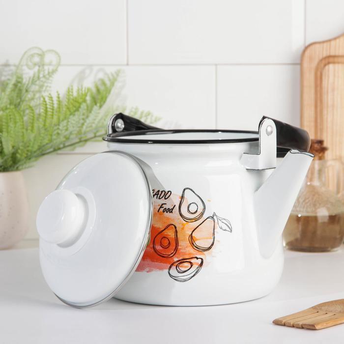 Чайник 'Клубника', 2,5 л, эмалированная крышка, цвет МИКС - фото 2