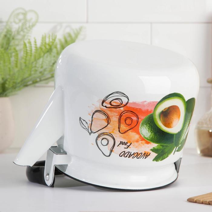 Чайник 'Клубника', 2,5 л, эмалированная крышка, цвет МИКС - фото 3