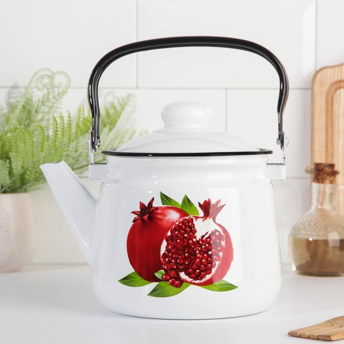 Чайник 'Клубника', 2,5 л, эмалированная крышка, цвет МИКС - фото 4