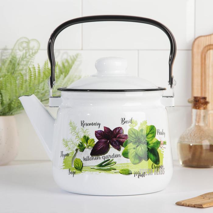 Чайник 'Клубника', 2,5 л, эмалированная крышка, цвет МИКС - фото 5