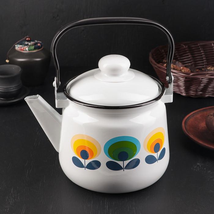 Чайник 'Клубника', 2,5 л, эмалированная крышка, цвет МИКС - фото 7