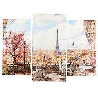 Картина модульная на подрамнике 'Париж' (2-25х50, 30х60 см) 80х60 см