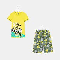 Пижама для мальчика, цвет салатовый, рост 116-122 см