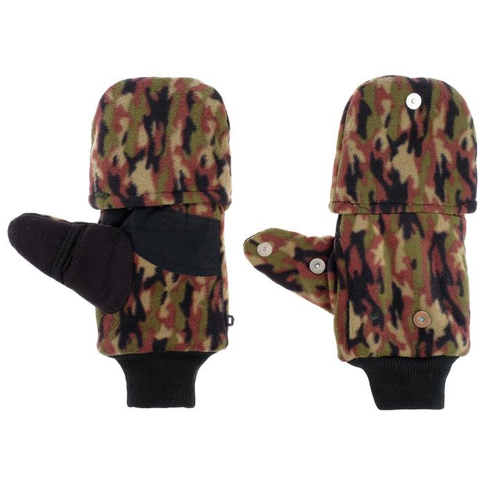 Перчатки из флиса с магнитом (камуфляж) - фото 1