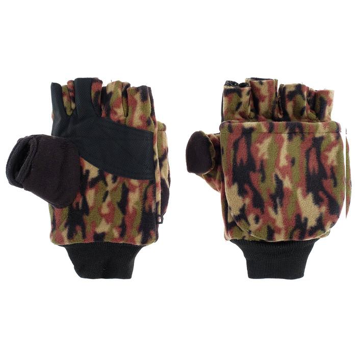 Перчатки из флиса с магнитом (камуфляж) - фото 2