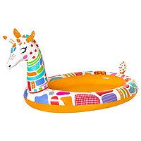 Игровой бассейн 'Жираф', с брызгалкой, 266 x 157 x 127 см, 53089 Bestway