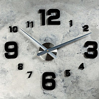 Часы-наклейка DIY 'Эндерлин', чёрные, 120 см (+ механизм)