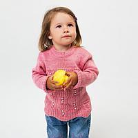 Джемпер для девочки, цвет тёмно-розовый, рост 80 см