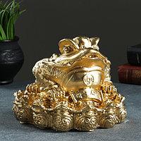 Фигура 'Жаба фэн-шуй' 18х18см золото