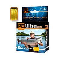 Леска плетёная Aqua Pe Ultra Elite M-8 Yellow, d0,20 мм, 150 м, нагрузка 15,9 кг