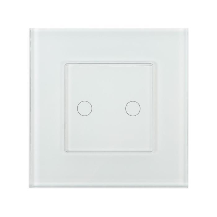 Умный встраиваемый выключатель HIPER, Wi-Fi, 240 В, сенсорный, на 2 линии - фото 1