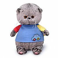 Мягкая игрушка 'Басик Baby в футболке с машинкой', 20 см