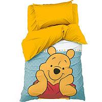 Детское постельное бельё 1,5 сп 'Медвежонок Винни' 143х215 см, 150х214 см, 50х70 см -1 шт., поплин 125 г/м2