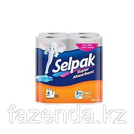 Selpak бумажные полотенца 4  рулона