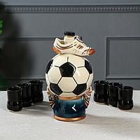 Коньячный набор 'Футбольный мяч', 7 предметов, 1/0.05 л, микс