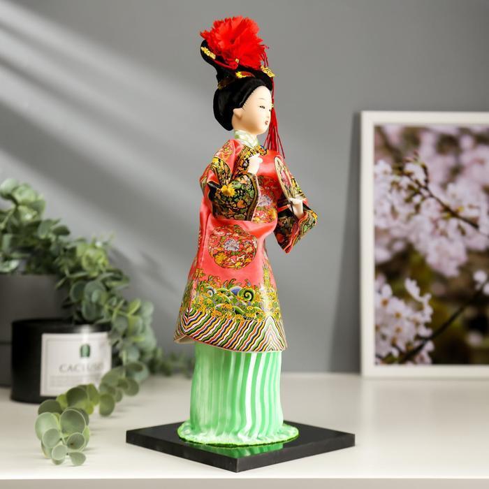 Кукла коллекционная 'Китаянка в традиционном наряде с опахалом' 33,5х12,5х12,5 см - фото 2